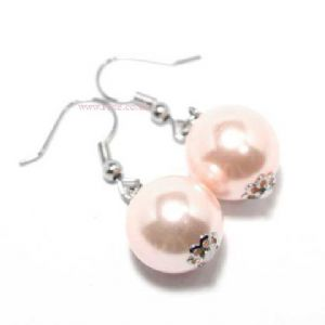 Light purple earrings, (jee25)